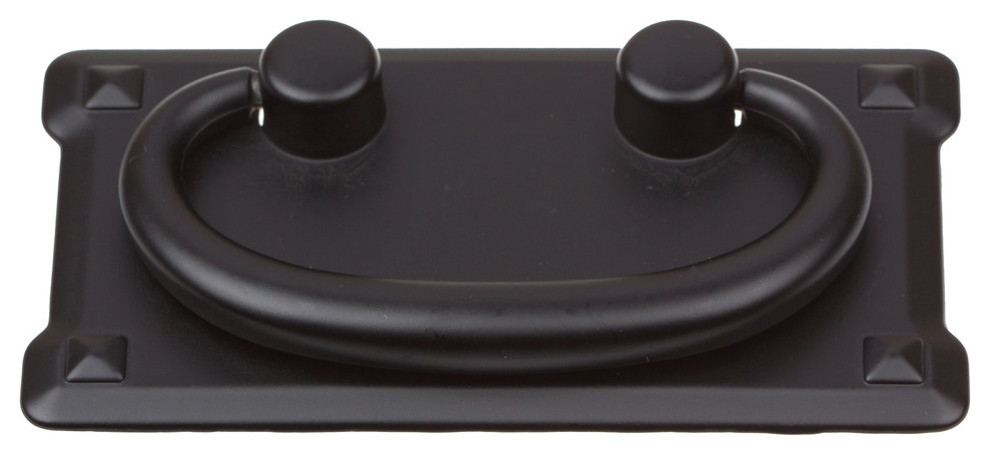 Elements R1011MB Verona 3in Center to Center Ring Cabinet Pull Matte Black