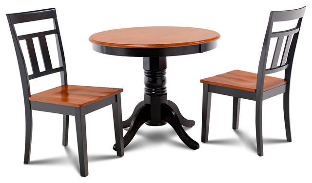 Brookline 3 Piece Small Kitchen Table And Chairs Set