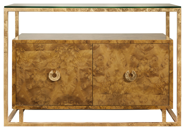 Nicholas Hollywood Regency Burl Wood Gold Media Cabinet Buffet  modern buffets and sideboards. Nicholas Hollywood Regency Burl Wood Gold Media Cabinet Buffet