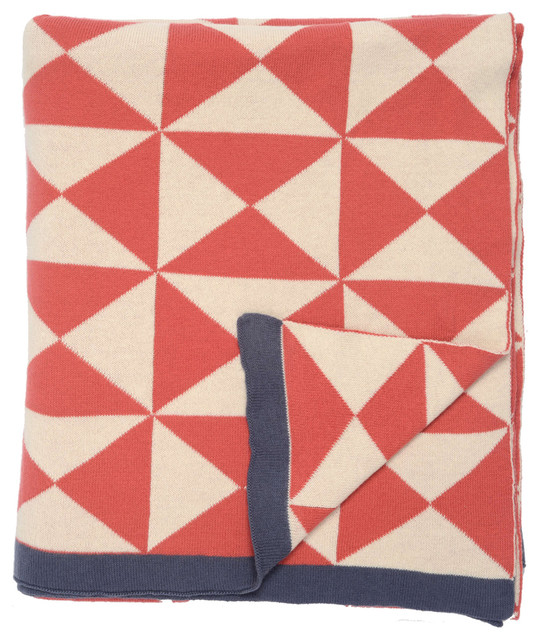 Coral Wind Farm Patterned Throw
