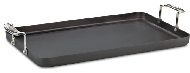 Chefs Classic Non-Stick Hard Anodized Double Burner Griddle.
