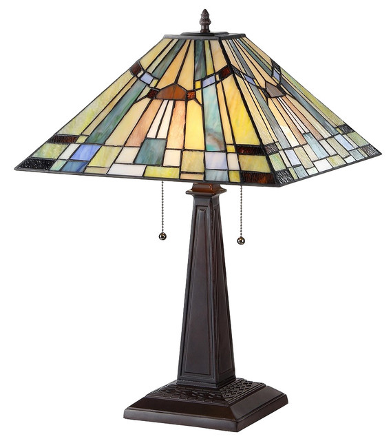 CHLOE Lighting, Inc.   Kinsey 2 Light Mission Table Lamp   Table Lamps