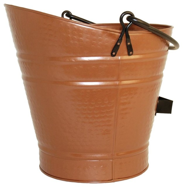 Color/Finish: Antique Copper. 1/2 cubic foot capacity. Features double bottom for insulation from hot ashes and two handles. 15 in. W x 14 in. H.  Bring an