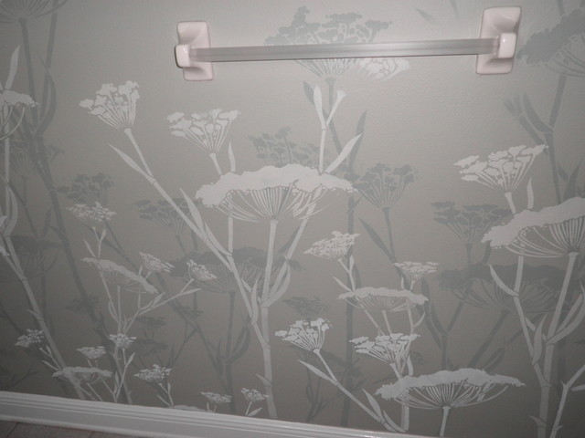 Bathroom wall stencil contemporary other by off the for Bathroom stencils designs