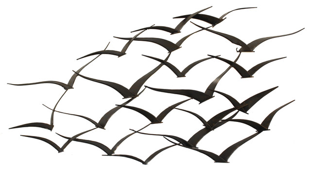 Urban Designs Handcrafted Flock Of Birds Metal Wall Art