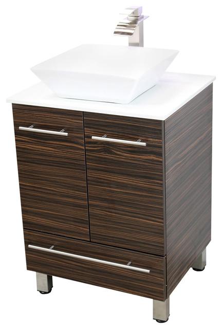 Windbay 24 free standing bathroom vanities sink modern bathroom vanities and sink consoles for Free standing bathroom vanities