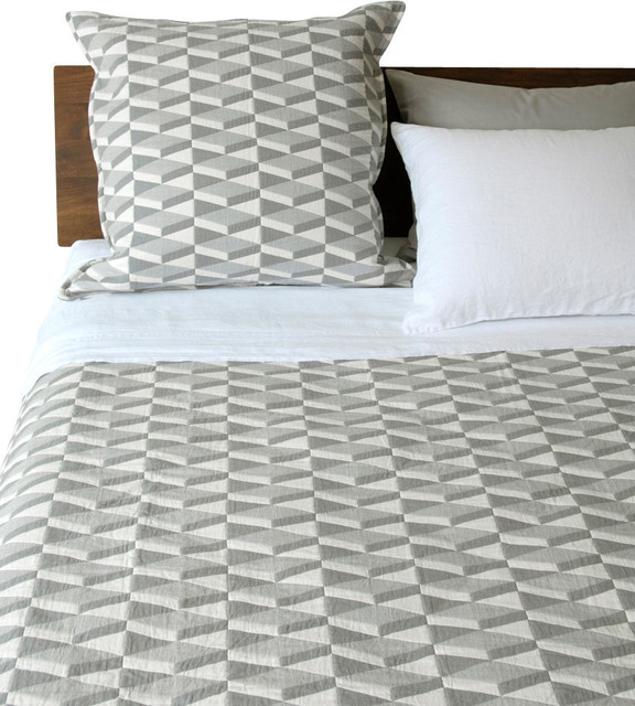 Area Inc. - Area Inc. Kline Twin Coverlet & Reviews | Houzz : gray quilted bedspread - Adamdwight.com