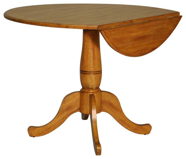 "Missouri Round Dining Table Black Rustic Oak Eci: ECI Furniture Four Seasons 40"" Round Drop Leaf Table"