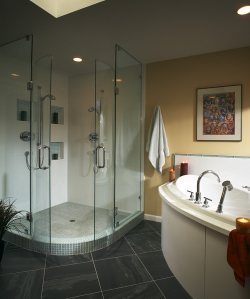Is this a prefab shower enclosure? What are the dimensions of this ...