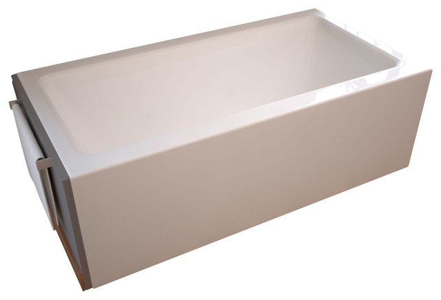 """Venzi Madre 30""""x60"""" Front Skirted, Air Massage Tub, Left Drain Placement."""