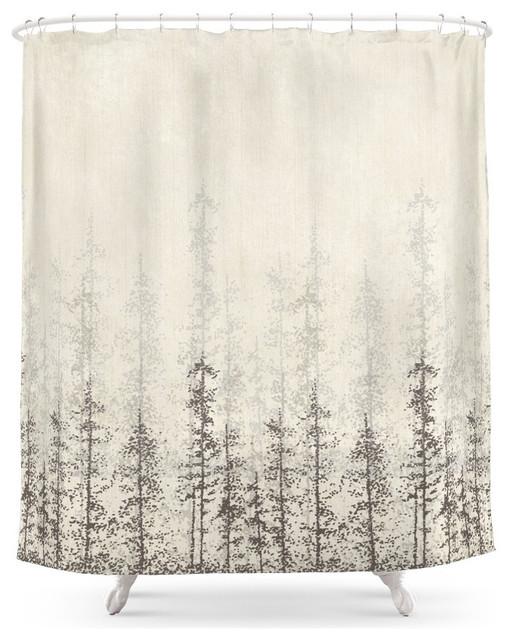 forest home shower curtain - contemporary - shower curtains -
