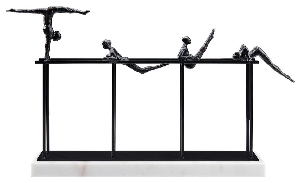 The Nadia Sculpture Iron Marble Black | Finesse Decor