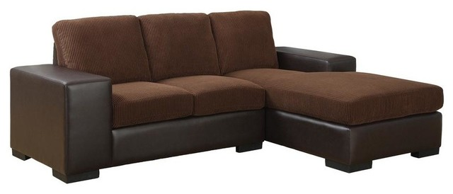 Monarch Sofa Lounger, Dark Brown Finish
