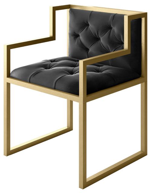 bradley modern gold metal contemporary chair contemporary armchairs and accent chairs by. Black Bedroom Furniture Sets. Home Design Ideas