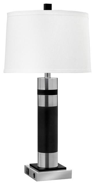 Twin-Light Double Nightstand Lamp, Set Of 2.