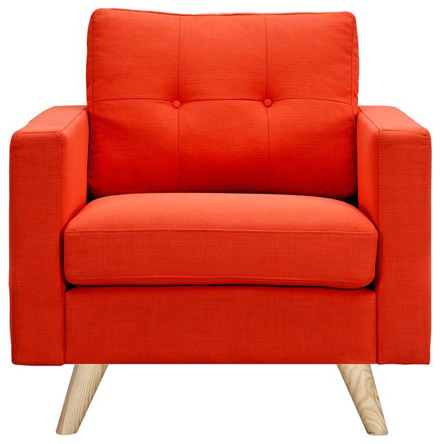 Shop Houzz Nyekoncept Retro Orange Armchair Armchairs