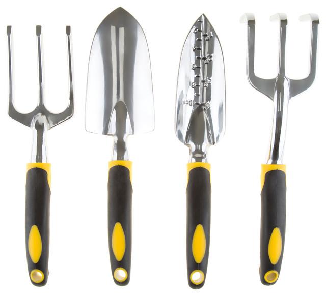 Pure Garden 4 Piece Garden Tool Set With Comfort Grip Handles Contemporary  Gardening Hand