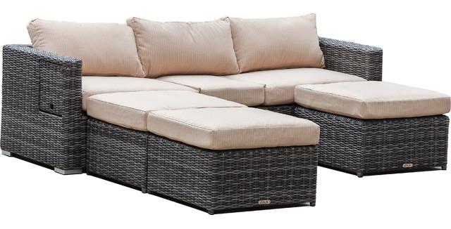 Cove Adjustable Sofa Set With Ottomans, 4-Piece Set