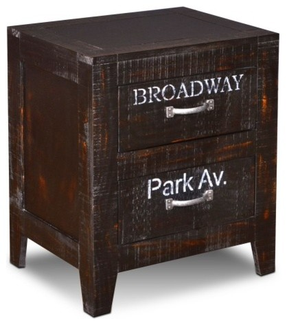 Graffiti City Collection 2-Drawer Nightstand End Table.