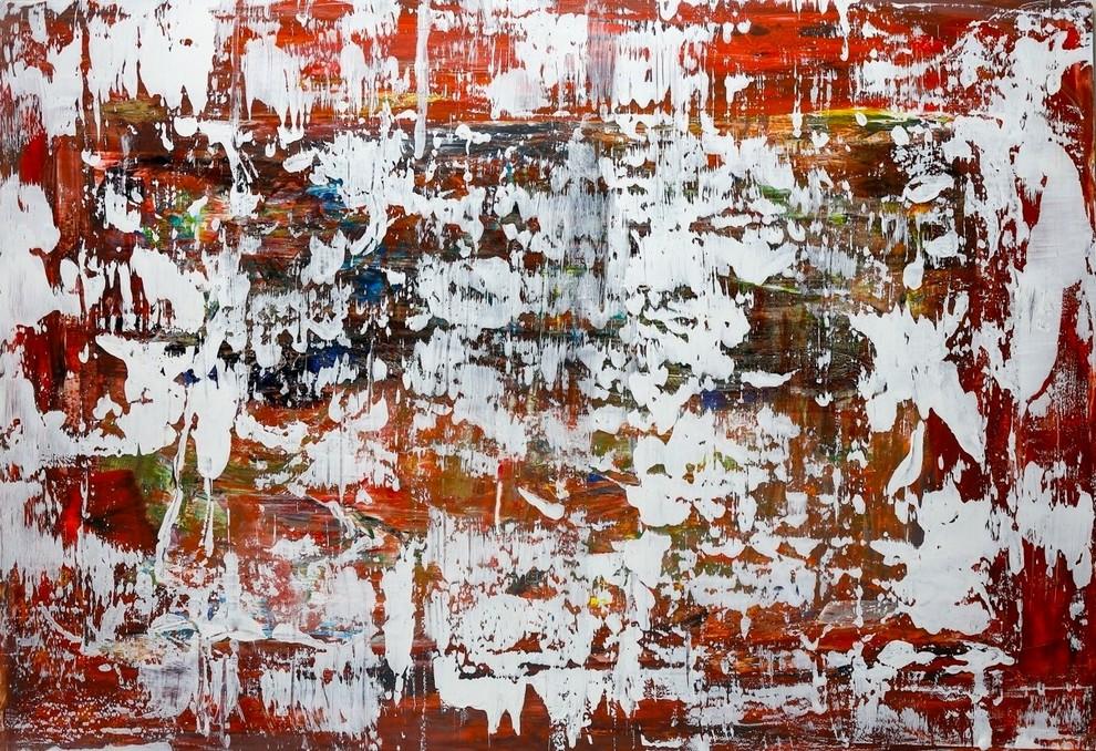 """Portrait of a Landscape"". Painting on Metal"