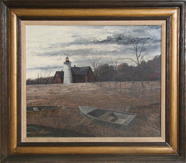 thomas kerry lighthouse oil painting   traditional
