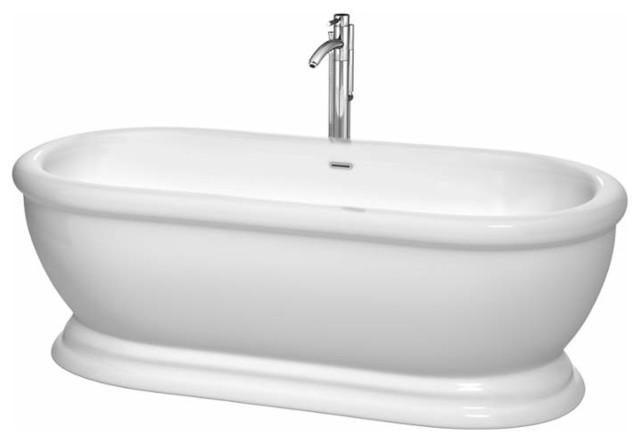 Wyndham Collection Wcbto85268atp11 Mary 68-1/2 Acrylic Soaking Bathtub.