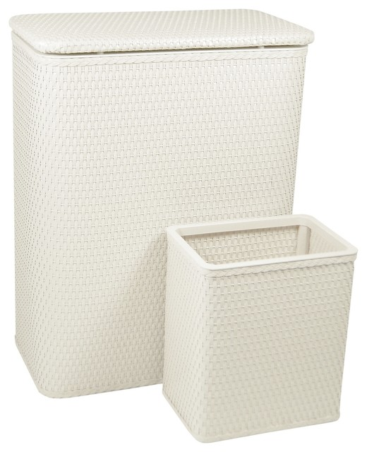 Chelsea Collection Hamper And Wastebasket Set Tropical