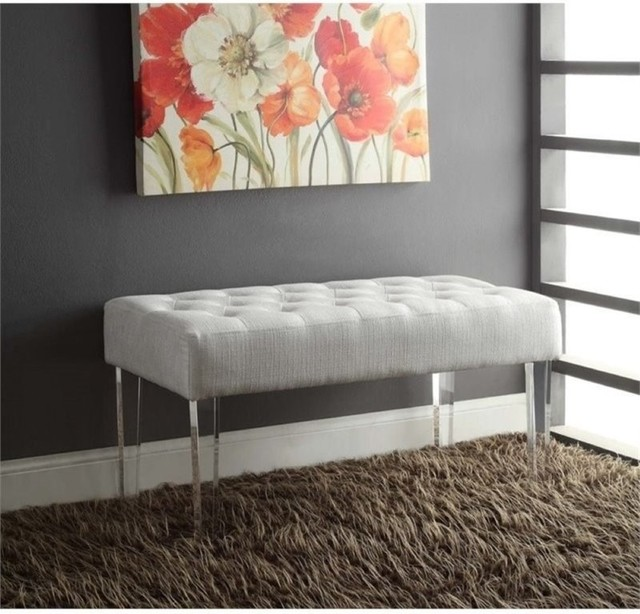 Bowery Hill Bedroom Bench, White.