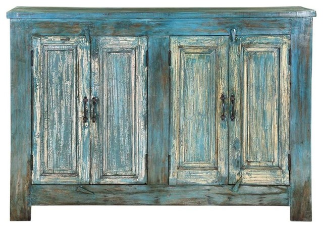 Pennsboro Distressed Reclaimed Wood 4, Rustic Storage Cabinets