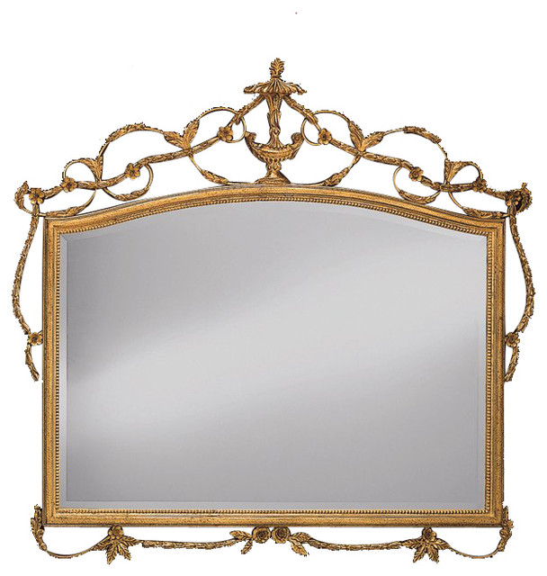 George iii adam style gilt over mantle mirror victorian for Adam style mirror