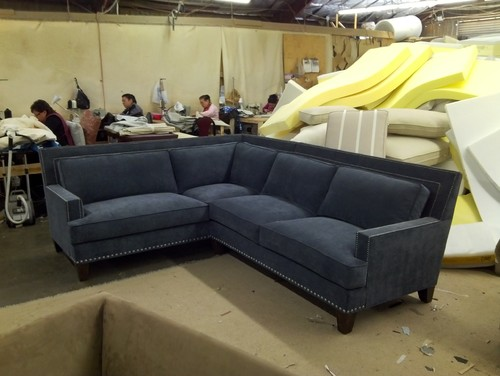 : sectional sofa with nailhead trim - Sectionals, Sofas & Couches