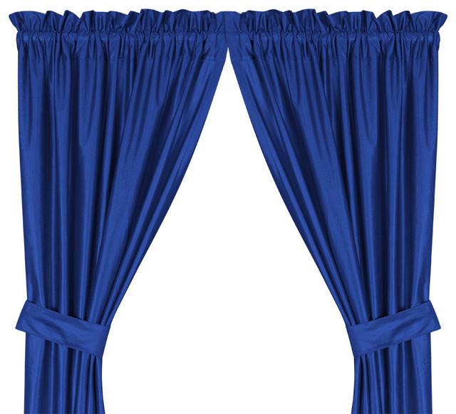 "Essexfauxsilk Plaid Curtain Single Panel, 50""x96"""