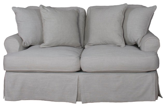 Whitman Love Seat Slip Cover Only, Light Gray.