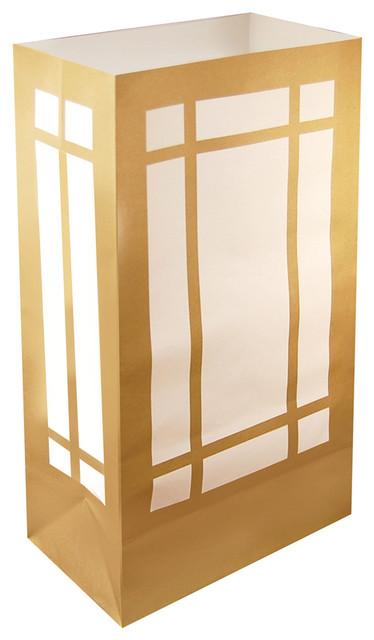 Lumabase Luminarias Flame Resistant Luminaria Bags, Lantern, Set Of 12.