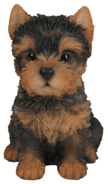 Yorkshire Terrier Puppy Garden Statue