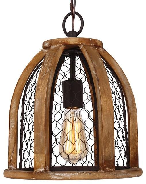 Chicken Wire Farmhouse Pendant Light - Farmhouse - Pendant ...