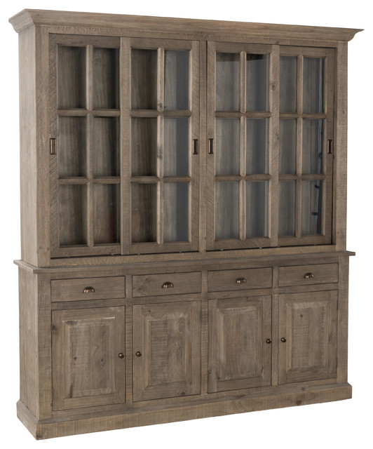 Pine China Cabinet Hutch: Gerald Reclaimed Pine 4 Drawer Hutch Cabinet By Kosas Home