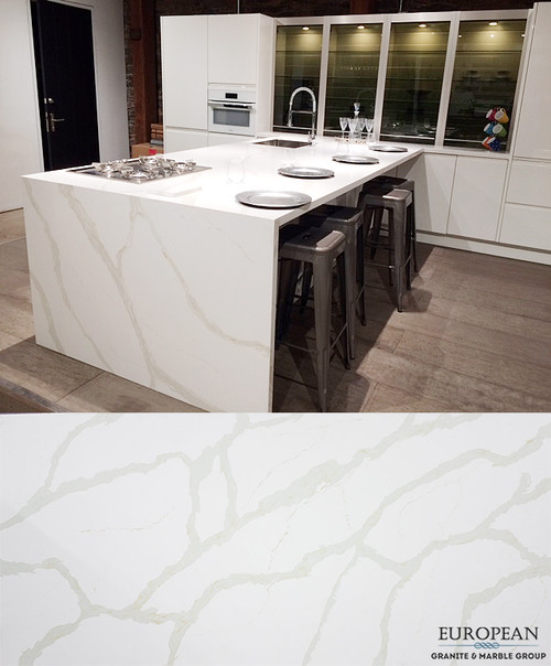 Calacatta Marble Kitchen: Calacatta Quartz Kitchen Island