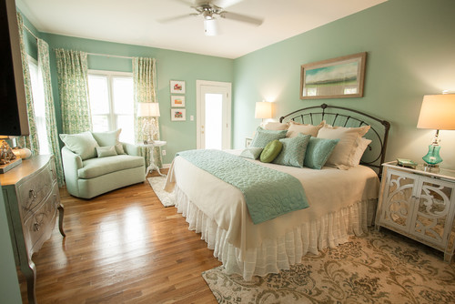 Norwalk Furniture Annette Cuddle Chair Cozies Up A Corner In This Festoon Aqua Master Bedroom