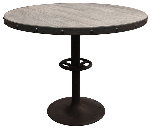 Table ronde bois et metal conceptions de maison for Table ronde style industriel