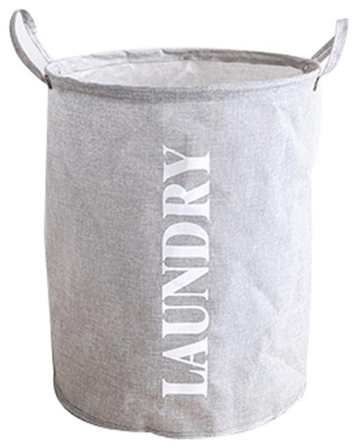 Fashion Versatile Polyester Ramie Clothes Laundry Basket.