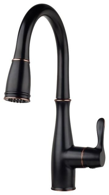 Miseno Mk621 Joslin Pullout Multi- Flow Spray Kitchen Faucet.