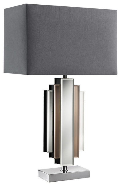 Harlow Table Lamp Chrome/Grey