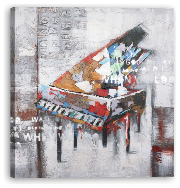 Hand Painted Abstract Piano Wall Decor Artwork I