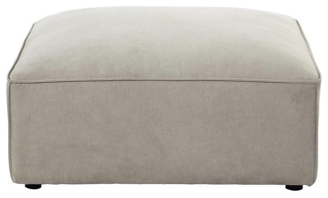 Pouf per divano beige modulabile in tessuto Malo - Moderno ...