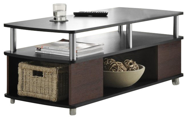 Altra Furniture Carson Coffee Table With Storage In Cherry And Black Coffee  Tables