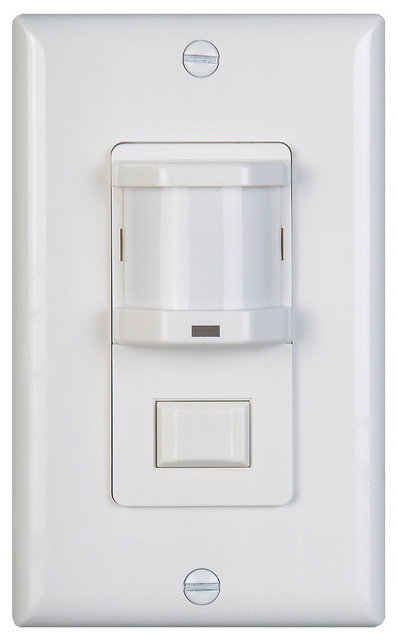 Vacancy Motion Sensor Switch Gives Auto Off, Manual On Operation + 180° Range - Contemporary ...