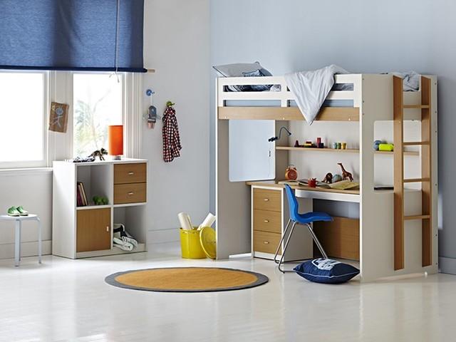 Taylor Loft Single Bunk Frame Contemporary Beds