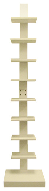 Proman Products Home Decor Spine Standing Book Shelves White.