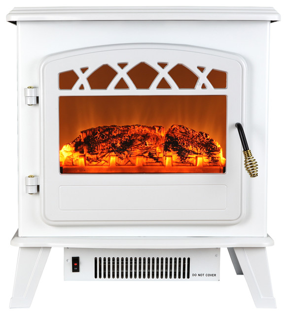 Portable Electric Fireplace Heater Beach Style Freestanding Stoves